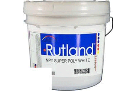SUPER POLY WHITE (RUTLAND EL9746) PLASTISOL INK FOR SILK SCREEN PRINTING